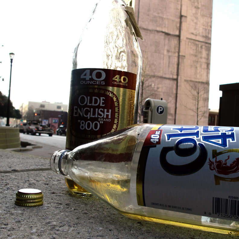 Colt 45 forty and Olde English forty