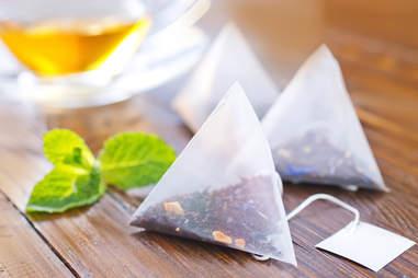 tea bags, tea