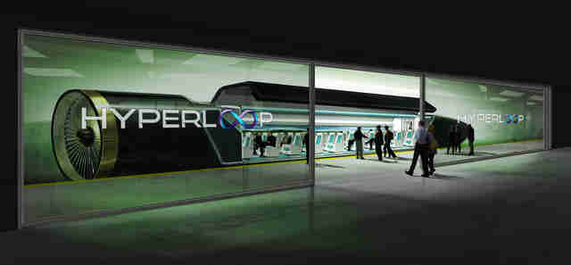 Rendering of Hyperloop station by Hyperloop Tech