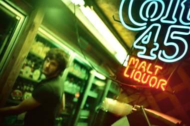 Colt 45 Malt Liquor neon sign