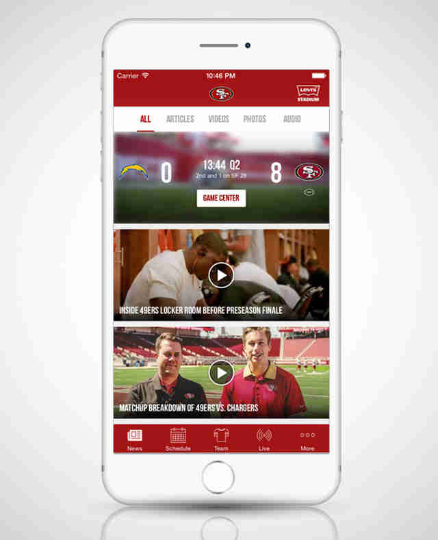 sf san francisco app 49ers sports football iphone