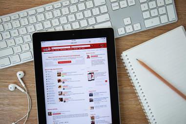 Yelp app on an Apple iPad