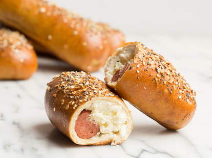 Everything Bagel Dogs -- Thrillist Recipes