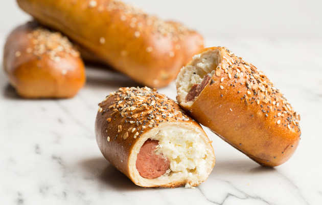 Stop What You're Doing and Make These Everything Bagel Hot Dogs