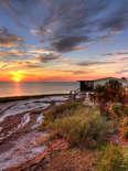 Florida beaches, sunset, beach house
