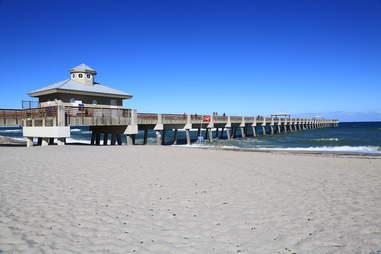Juno Beach, boardwalk, pier, ocean