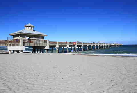 Juno Beach, boardwalk, pier, ocean