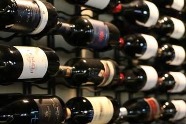 Bottles of wine stacked at D'Vine in East Mesa, Phoenix, Arizona