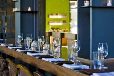 Olive & Ivy wine bar table set up in Old Town Scottsdale, Phoenix, Arizona