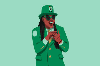 Celtics superfan Bob Marley, aka Black Leprechaun