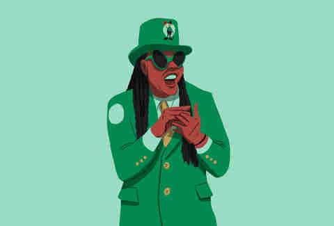 Celtics superfan Bob Marley, aka Black Leprechaun