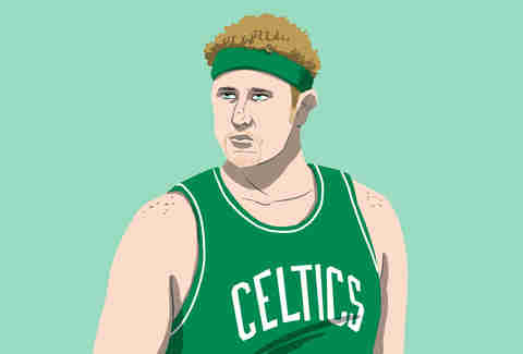 Celtics superfan Brian Scalabrine, aka White Mamba