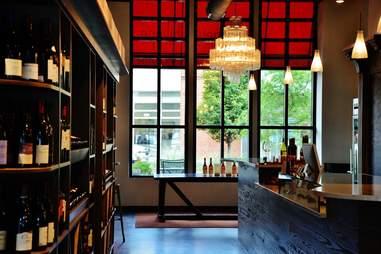 Interior shot of Petit Philippe wine bar