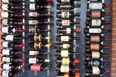 Wine shelf at Vin Master wine shop