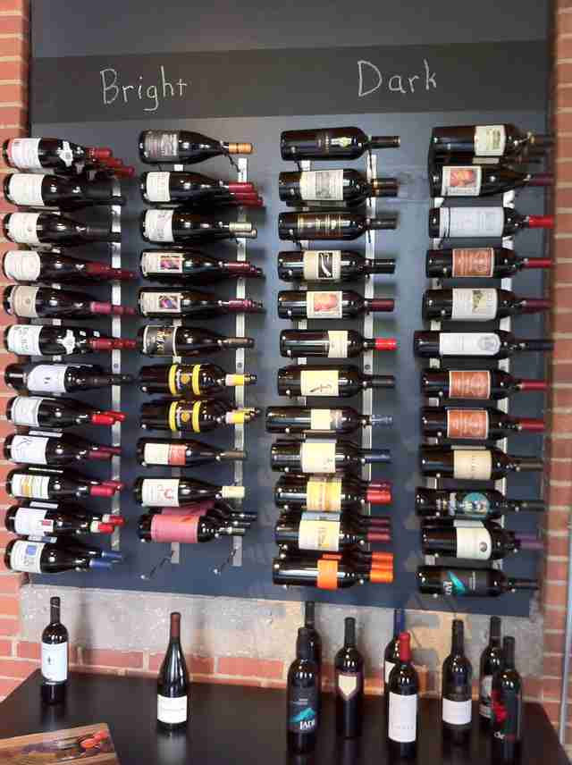 Wine shelf at Vin Master wine shop