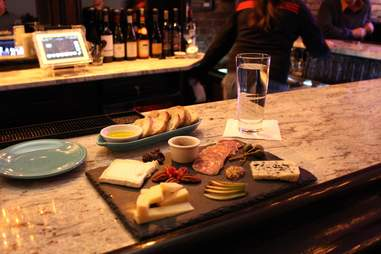Charcuterie board at the Allegheny wine mixer