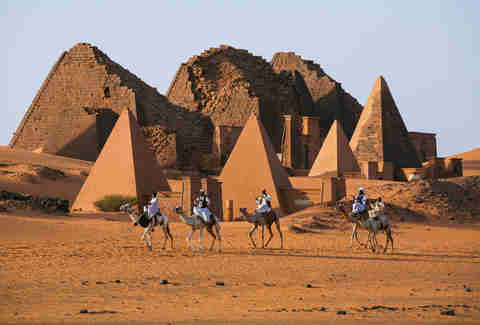 The Pyramids at Meroë in Sudan, Africa