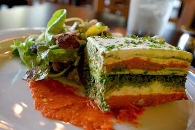 Slice of vegan Living Lasagna