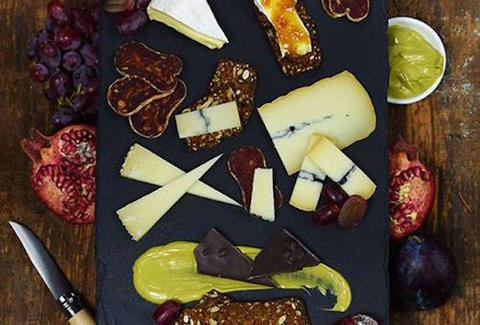 cheese and meat board from pastoral cheese bread and wine chicago