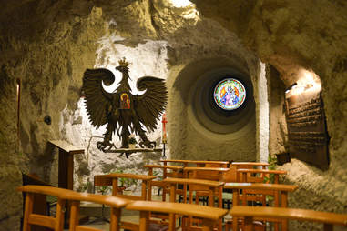 Saint Ivan's Cave, or Gellert Hill Cave Church, in Budapest, Hungary