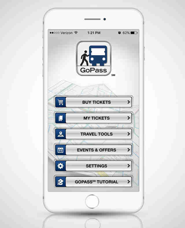 DART GoPass app on a smart phone