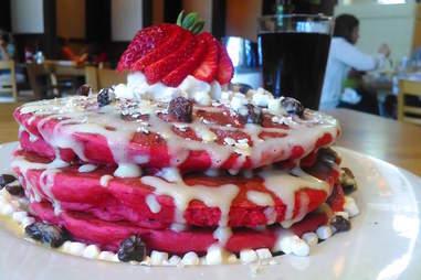 Hudson Cafe, red velvet pancakes, pancakes, Detroit breakfast