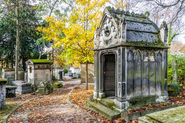 Pere Lachaise cemetery in Paris, France