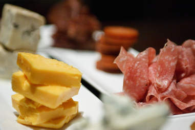 Cheese, prosciutto, and other meats at Indulge wine bar in Milwaukee, Wisconsin