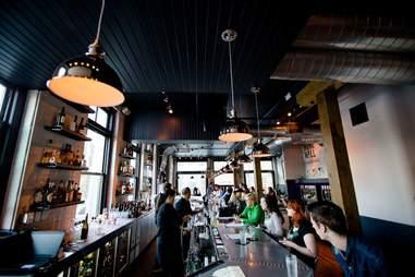 Interior of Black Sheep wine bar in Milwaukee, Wisconsin