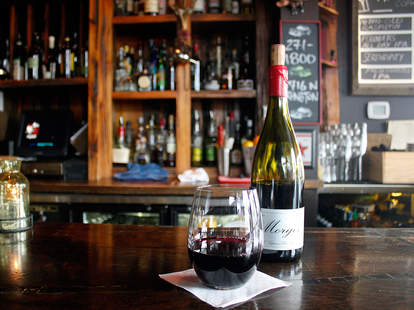 wine bar interior in Milwaukee, Wisconsin