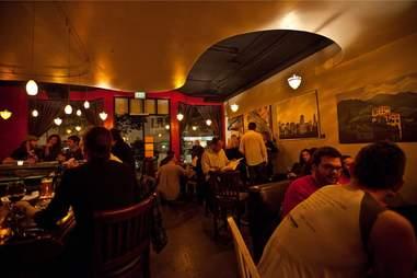 Interior of InnterFog Wine Bar and Kitchen in Inner Sunset, San Francisco, California