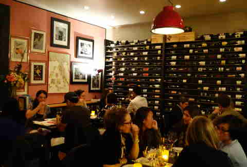 Interior of InoVino wine bar in Cole Valley, San Francisco, California