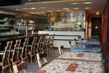 Interior of Jamber Wine Pub and bar in SOMA, San Francisco, California