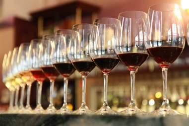 glasses of wine, tasting