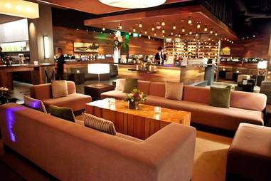 Interior of The Press Club wine bar and lounge in SOMA, San Francisco, California