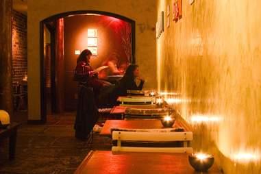 Interior of Hotel Biron wine bar in Hayes Valley, San Francisco, California