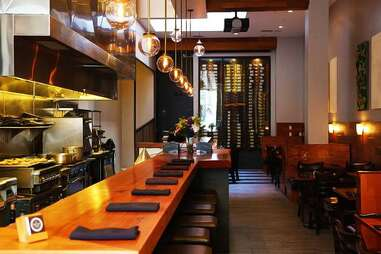 Interior of The Barrel Room wine bar in the Financial District, San Francisco, California