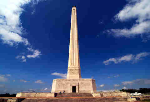The San Jacinto Monument in Houston, Texas in daylight