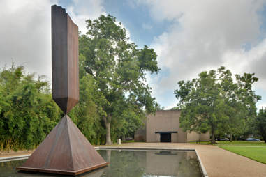 Broken Obelisk at Rothko Chapel in Houston, Texas