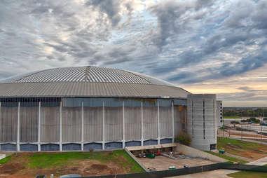 Astrodome Stadium in Houston, Texas in daylight