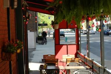 Sunlit shot of Barcelona Tapas' restaurant
