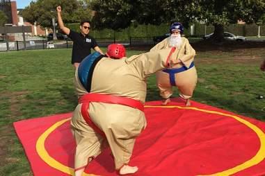 Urban Sports LA sumo suit wrestling in Los Angeles, California