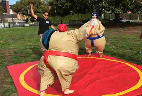 Urban Sports LA sumo suit wrestling in Los Angeles, California
