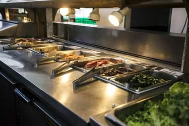 Korean BBQ buffet table
