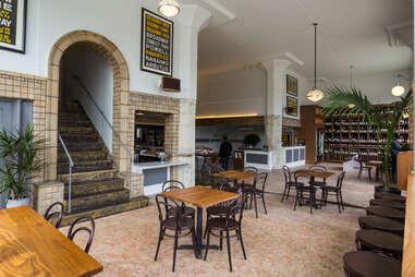 Interior of Tofino Wines bar in Inner Richmond, San Francisco, California