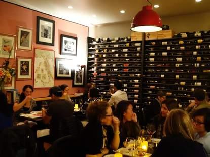 people dining at inovino in san francisco wine bar and italian restaurant