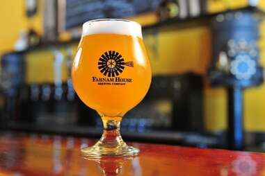 beer in glass from farnam house brewing company