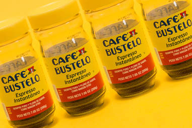 Glasses of Cafe Bustelo instant coffee