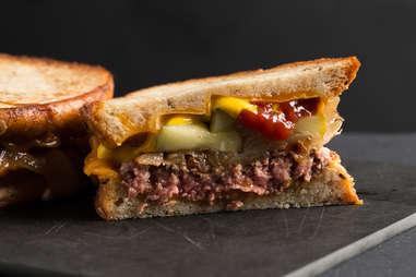 Cheeseburger patty melt