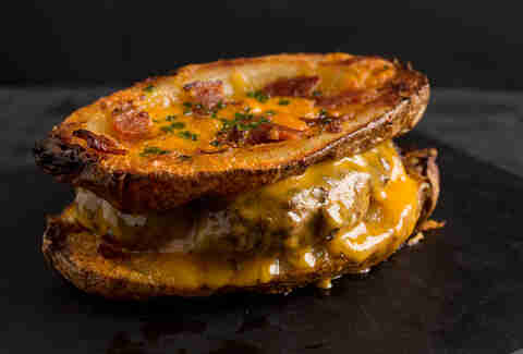Loaded potato patty melt